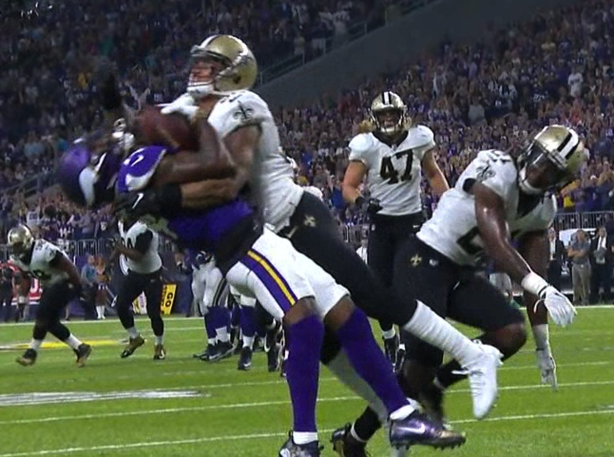 Stefon Diggs Got LIT UP With This Tackle But Held To The Ball