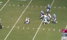 UNC QB Fumbles For a Loss of 30 Yards During Hilariously Ugly Play (VIDEO)