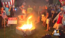 """Angry Patriots Fan Throws """"Patriots Gear-Burning Party"""" For Fellow Angry Patriots Fan (Videos)"""
