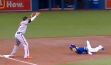 Blue Jays' Darwin Barney Performs One of the Worst Slides in Baseball History (Video)