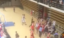 Massive Brawl With Flying Kicks, Punches, & Objects Breaks Out During Chinese League Basketball Game (VIDEO)