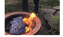 NFL Fan Burns His Season Tickets Because Players Won't Stop Kneeling During Anthem (VIDEO)