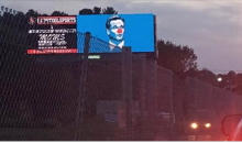 Roger Goodell Clown Billboards Being Displayed Outside Gillette Stadium Just Before Pats Opener