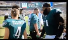 Looks Like Jason Peters Scared Jake Elliott Into Making That 61-Yard Field Goal (VIDEO)