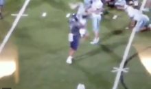 Watch This High School Football Player Powerbomb His Opponent During A Game (VIDEO)