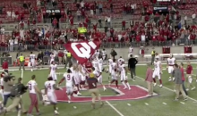 Baker Mayfield Plants The OU Flag In The Ohio State Logo At Midfield (VIDEO)