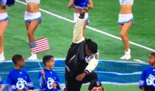National Anthem Singer Takes a Knee & Raises a Black Fist at Lions Game (VIDEO)