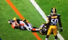 Steelers JJ Wilcox Gets 15-Yard Penalty After Knocking Himself Unconscious (VIDEO)