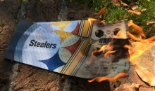 Steelers Fan Burns Game Tickets After Team Didn't Come Out For Anthem (VIDEO)