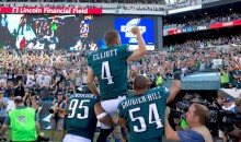 Eagles Kicker Jake Elliott Wins Game with 61-Yard Field Goal as Time Expires, and the Reaction from His Parents Is PRICELESS (Videos)