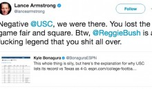 Lance Armstrong Blasts USC for Claiming They Never Lost to Texas, and for Mistreating Reggie Bush (Tweets)