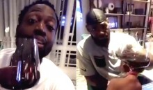 LeBron and D-Wade Celebrate First Practice as Cavs Teammates by Drinking Wine, Because They're Classy and Sophisticated (Video)