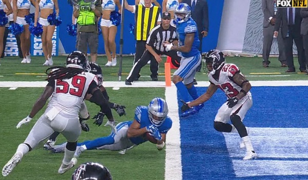 Lions lose apparent game-winning TD vs. Falcons on replay review