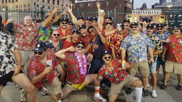magnum pi bachelor party ejected from tigers game