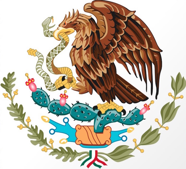 mexican flag coat of arms