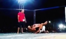 MMA Cornerman Jumps Into Octagon and Attacks Opponent After Ref Fails to Stop Fight (Video)