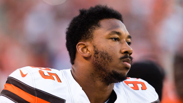 Cleveland Browns DE Myles Garrett injures ankle, status for opener unknown