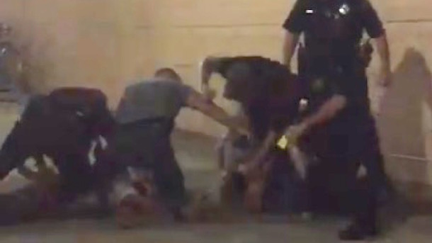 pittsburgh police beat man outside penguins arena