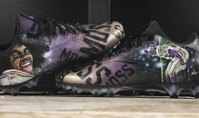 Stefon Diggs MNF Cleats Feature Randy Moss Mooning The Green Bay Packers