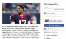 Guy Starts Petition For Brock Osweiler To Donate The Money He Robbed From Texans Back To Houston