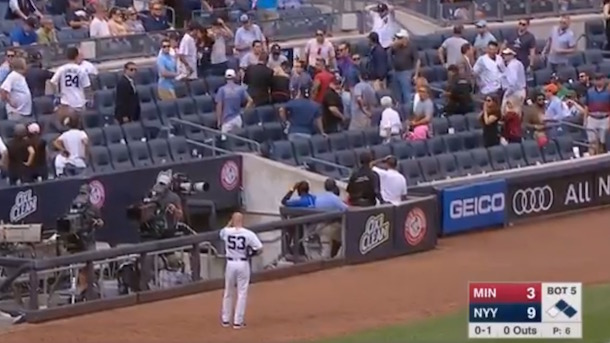 young yankees fan hit by line drive