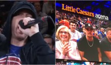 Eminem Gets Cheered, Kid Rock Gets Booed At Detroit Pistons Game (VIDEO)