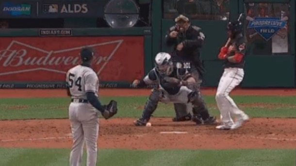 Cleveland Indians Austin Jackson Doesn't Run Out Dropped Third Strike