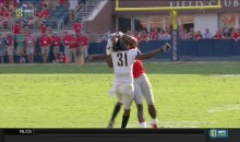 Ole Miss WR DK Metcalf Makes Unbelievable Catch Behind Defender's Head (VIDEO0