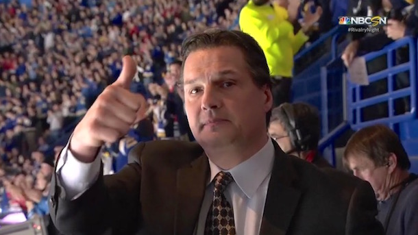 Ed Olczyk Gets Standing O From St. Louis Fans In First Game Since Beginning Cancer Treatment