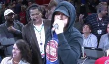 Rapper Eminem Welcomes Pistons Back To Detroit (VIDEO)