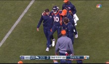 Broncos' Emmanuel Sanders Carted Off Field With Ankle Injury (VIDEO)
