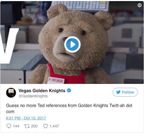 Golden Knights Response to Sexist Tweet