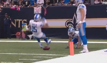 Watch Detroit Lions WR Golden Tate Give The Football The 'People's Elbow' After TD (VIDEO)