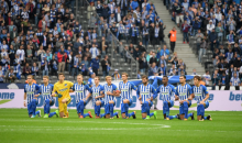 German Soccer Club Hertha Berlin Kneel In Solidarity With NFL Players (VIDEO)