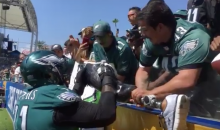 Watch This Awesome Moment When Eagles' Peters Signs Wounded Warrior's Prosthetic Leg (VIDEO)