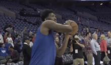 Joel Embiid Had Some Fun Mocking Lonzo Ball's Jump Shot (VIDEO)