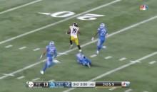 JuJu Smith-Schuster Breaks Free For 97-Yard TD vs. Lions (VIDEO)