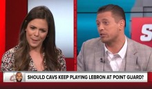 Katie Nolan Cuts SportsNation Debut Shorts After Heated Exchange With WWE D-Bag The Miz (Videos)