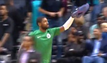 Kyrie Irving Continues Sucking Up To Boston, Gives Game-Worn Sneakers To Celtics Fan Wearing His Jersey (VIDEO)