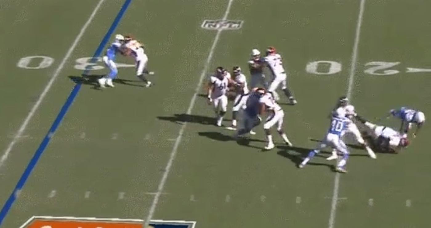 Chargers Melvin Ingram Destroys Broncos QB Trevor Siemian Gets