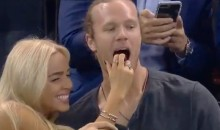 Mets Ace Noah Syndergaard Spotted Getting Frisky With His Smoking Hot Girlfriend At Rangers Game (Video + Pics)