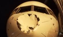 OKC Thunder Plane Suffers Damage After Hitting Bird at 30,000 Feet (PICS)