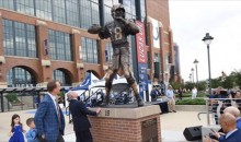 Peyton Manning's Statue Gets Unveiled & It Looks Like It Skipped Leg Day; Forehead Size Is Accurate (VIDEO)