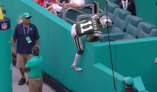 Jets' Robby Anderson Takes a Seat In The Stands After Scoring TD (VIDEO)