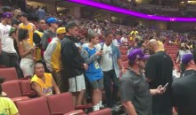 People Line Up To Meet LaVar Ball At Preseason Lakers Game (Video)