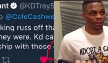 Was Russell Westbrook's Cat Shirt Yet Another Jab at Departed Teammate Kevin Durant? (PICS)