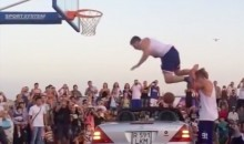 EPIC FAIL Reminds Us Why Car Dunks Are Usually a Bad Idea (VIDEO)