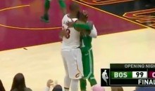 Watch LeBron & Kyrie Share a Moment After Irving Misses Game-Tying 3 at Buzzer (VIDEO)