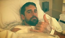 Aaron Rodgers Sent Out the Saddest-Looking 'Inspirational' Photo After His Surgery (PIC)