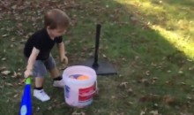 Little Boy Uses Two Different Sports To Make One AWESOME Trick Shot (VIDEO)